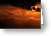 Burn Greeting Cards - Eclipse Greeting Card by Andrew Paranavitana
