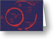 Abstract Expressionism Greeting Cards - Eclipse Greeting Card by Julie Niemela