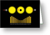 Binary Stars Greeting Cards - Eclipsing Binary Diagram Greeting Card by Ron Miller
