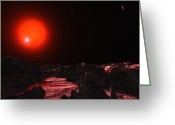 Binary Stars Greeting Cards - Eclipsing Binary Star Canum Venaticorum Greeting Card by Andrew Taylor