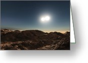 Binary Stars Greeting Cards - Eclipsing Contact Binary Star System W Greeting Card by Andrew Taylor