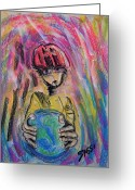 Friendly Pastels Greeting Cards - Eco Friend Greeting Card by Robert M Sassi