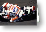 Signed By Eddie Lawson Greeting Cards - Eddie Lawson - Suzuka 8 Hours Greeting Card by Jeff Taylor