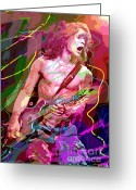 Recommended Greeting Cards - Eddie Van Halen Jump Greeting Card by David Lloyd Glover