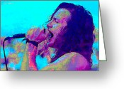 Vedder Greeting Cards - Eddie Vedder Greeting Card by John Travisano