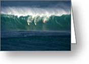 Big Wave Surfing Greeting Cards - Eddie Would Go Greeting Card by Kevin Smith