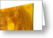 Gold Mountain Mixed Media Greeting Cards - Edge Close Up of Autumn Reflections Greeting Card by Paul Tokarski