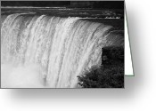 Overflowing Greeting Cards - Edge Of The Horseshoe Falls Niagara Falls Ontario Canada Greeting Card by Joe Fox