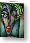 Violet Greeting Cards - Edgey Greeting Card by Michael Lang