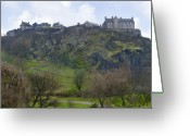 Scotland Greeting Cards - Edinburgh Castle Greeting Card by Mike McGlothlen