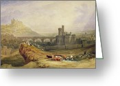 Great Painting Greeting Cards - Edinburgh Greeting Card by Thomas Brabazon Aylmer