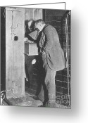 Thomas Edison Greeting Cards - Edison Fluoroscope, 1896 Greeting Card by Science Source