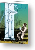 Thomas Edison Greeting Cards - Edison Vacuum Pump Greeting Card by Science Source