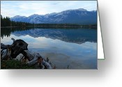 Edith Greeting Cards - Edith Lake Reflections Greeting Card by Larry Ricker