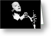 Edith Greeting Cards - Edith Piaf 1915-1963 Greeting Card by Granger