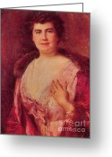 Edith Greeting Cards - Edith Wilson Greeting Card by Photo Researchers