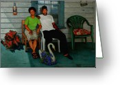 Rocking Chairs Greeting Cards - Edna and Sammy of Johnston County Greeting Card by Doug Strickland