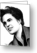 Kristen Stewart Greeting Cards - Edward Cullen Greeting Card by Crystal Rosene