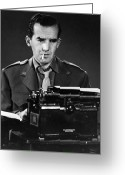 Typewriter Greeting Cards - Edward Murrow (1908-1965) Greeting Card by Granger