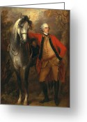 Redcoat Painting Greeting Cards - Edward Viscout Ligonier Greeting Card by Thomas Gainsborough