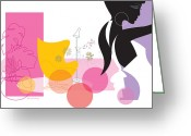 Fashion Greeting Cards - Egg Chair Greeting Card by Lisa Henderling