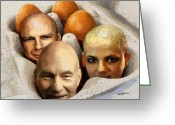 Stewart Greeting Cards - Eggheads Greeting Card by Anthony Caruso