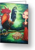 Hen Greeting Cards - Eggs Greeting Card by Leanne Wilkes