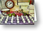 Socal Greeting Cards - Eggs on Display Greeting Card by Chuck Staley