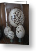 Music Sculpture Greeting Cards - Eggshell Sculpture Greeting Card by Christina A Pacillo