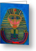 Colette Greeting Cards - Egypt Oilpaint Greeting Card by Colette Hera  Guggenheim