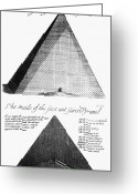 Greaves Greeting Cards - Egypt: Pyramid Diagram Greeting Card by Granger