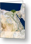 Nile River Greeting Cards - Egypt, Satellite Image Greeting Card by Planetobserver