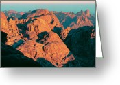 Moshe Greeting Cards - Egypt Sinai Mount Sinai  Greeting Card by Daniel Blatt