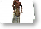 Husband Digital Art Greeting Cards - Egyptian Man 01 Greeting Card by Corey Ford