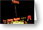 Tutankhamen Greeting Cards - Egyptian Theatre in Coos Bay Oregon Greeting Card by Gary Rifkin