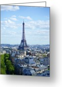 Tall Building Greeting Cards - Eiffel Tour Greeting Card by Www.saint-tropez-photo.com