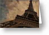 Eiffel Tower Greeting Cards - Eiffel Tower 2 Greeting Card by Mary Machare