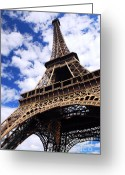 Landmarks Greeting Cards - Eiffel tower Greeting Card by Elena Elisseeva