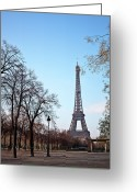 Bare Tree Greeting Cards - Eiffel Tower In Paris Greeting Card by Tuan Tran