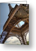 Ile De France Greeting Cards - Eiffel Tower In Perspective Greeting Card by Bernard Collardey Photographie