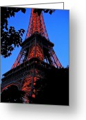Europa Greeting Cards - Eiffel Tower Greeting Card by Juergen Weiss