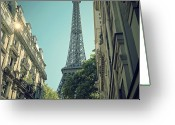 France Greeting Cards - Eiffel Tower Greeting Card by Louise LeGresley