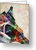 Tour Greeting Cards - Eiffel Tower Greeting Card by Michael Tompsett