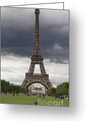 Attraction Greeting Cards - Eiffel tower. Paris Greeting Card by Bernard Jaubert