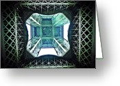 France Greeting Cards - Eiffel Tower Paris Greeting Card by Fabien Astre