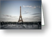Broadcast Antenna Greeting Cards - Eiffel Tower PARIS Greeting Card by Melanie Viola