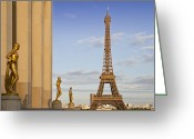 Sunlight Greeting Cards - Eiffel Tower PARIS Trocadero  Greeting Card by Melanie Viola