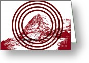 Recreation Mixed Media Greeting Cards - Eiger Nordwand Greeting Card by Frank Tschakert