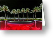 Wine Art Digital Art Greeting Cards - Eight Palms Drinking Wine Greeting Card by David Lee Thompson