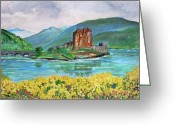 Teresa Dominici Greeting Cards - Eilean Donan Castle in Scotland  Greeting Card by Teresa Dominici